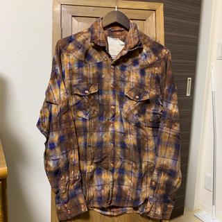 ムラ染め チェックシャツ(シャツ)