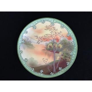 ノリタケ(Noritake)のオールドニッポン ノリタケ 盛上げ 湖畔風景図紋 プレート 356(食器)