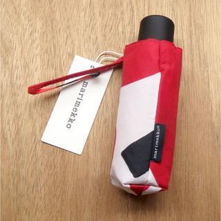 マリメッコ(marimekko)のマリメッコ 折り畳み傘 ウニッコ ホワイト×レッド(傘)
