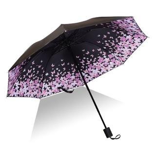 ★送料無料★折りたたみ傘 雨傘  晴傘 兼用 日傘紫外線99パーセントカット (傘)