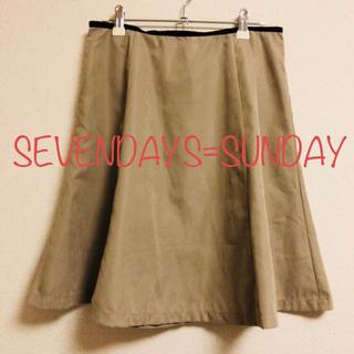 セブンデイズサンデイ(SEVENDAYS=SUNDAY)のお値下げ✨ SEVENDAYS=SUNDAY フレアスカート(ひざ丈スカート)