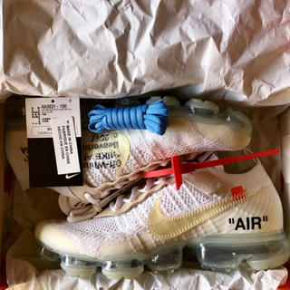 オフホワイト(OFF-WHITE)のThe ten Nike Air vapormax white 27cm(スニーカー)