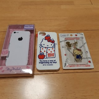 サンリオ(サンリオ)の[美品]ハローキティ iphoneカバー(iPhoneケース)