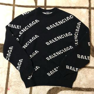 バレンシアガ(Balenciaga)のBALENCIAGA 19ss メンズ ロゴ クルーネック ニット セーター(ニット/セーター)