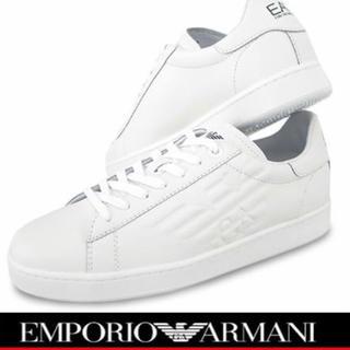 エンポリオアルマーニ(Emporio Armani)のエンポリオアルマーニ   新品  タグ付き スニーカー  ホワイト 27cm(スニーカー)