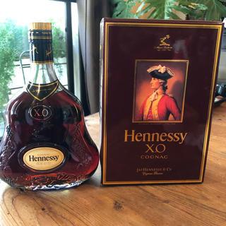 古酒 Hennessy ヘネシーXO 金キャップ 箱付き(ブランデー)