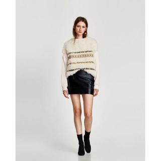 ザラ(ZARA)の2018ZARA   レザー風スカート   ミニスカート(ミニスカート)
