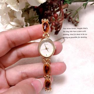 オリエント(ORIENT)の【Jupiter】ORIENTべっ甲風ブレス腕時計✩︎稼働品(腕時計)