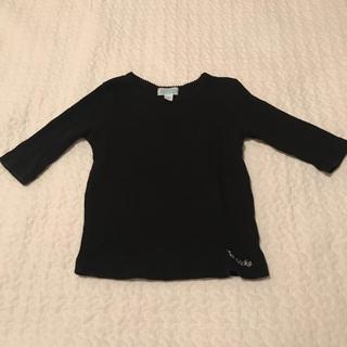チッカチッカブーンブーン(CHICKA CHICKA BOOM BOOM)のchckachickaboomboom カットソー 5部丈 黒 透かし編み(Tシャツ/カットソー)