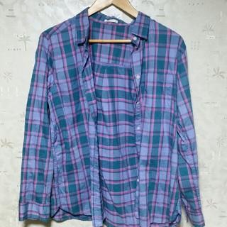 ジーユー(GU)の【GU】チェックシャツ レディースXL(シャツ/ブラウス(長袖/七分))