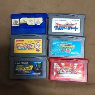 ゲームボーイアドバンス(ゲームボーイアドバンス)のロックマン含むGBAソフトセット(携帯用ゲームソフト)