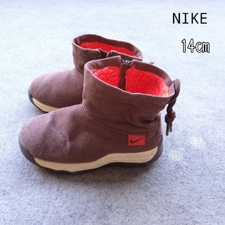 ナイキ(NIKE)の14㎝ NIKE の子供用 ショートブーツ 冬用ボアあり(ブーツ)