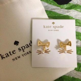 kate spade new york - ケイトスペード  ピアス 猫 ねこ