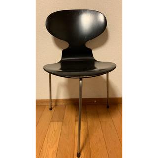 ハーマンミラー(Herman Miller)の1950'S アントチェア (ブラック)(ダイニングチェア)