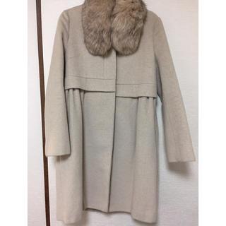 ダブルスタンダードクロージング(DOUBLE STANDARD CLOTHING)のリアルファーつき ダブルスタンダードクロージング コート 美品(ロングコート)