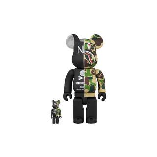 NEIGHBORHOOD - BAPE x NEIGHBORHOOD BE@RBRICK 100%&400%