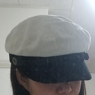 バイカラーキャスケット マリン帽子(キャスケット)