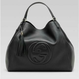 Gucci - グッチ GUCCI ハンドバッグ ブラック 本革
