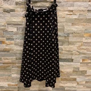 ダブルスタンダードクロージング(DOUBLE STANDARD CLOTHING)の今期新作ダブスタ スター柄スカート 36(ひざ丈スカート)
