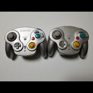 ニンテンドーゲームキューブ(ニンテンドーゲームキューブ)の通電確認済み ゲームキューブ ウェーブバード 2個セット 無線 コントローラー(その他)