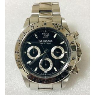 グランドール(GRANDEUR)のGRANDEURグランドール クロノグラフ 腕時計 購入価格15000円(腕時計(アナログ))