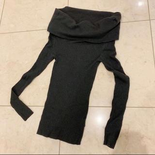 ダブルスタンダードクロージング(DOUBLE STANDARD CLOTHING)のダブスタSov.オフショルニット 36 グレー(ニット/セーター)