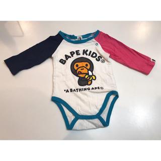アベイシングエイプ(A BATHING APE)のBAPE KIDS BABY ロンパース 70(ロンパース)