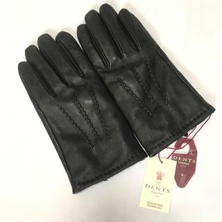 タグ付き未使用 デンツ スマホ対応 本革 手袋 ブラック Lサイズ 黒革(手袋)