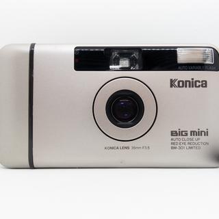 コニカミノルタ(KONICA MINOLTA)のKONICA BiG mini BM-301 LIMITED 純正ケース付き(フィルムカメラ)