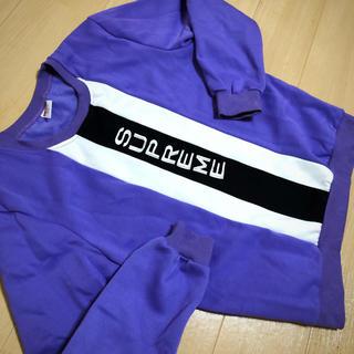 Supreme - supreme 紫 スウェット