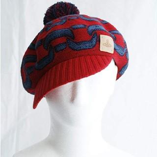ヴィヴィアンウエストウッド(Vivienne Westwood)の【新品】Vivienne Westwood ボンボン付きおしゃれ帽子(キャスケット)