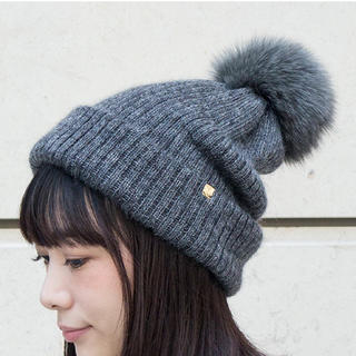 カシラ(CA4LA)のCA4LA  ポンポン ニット帽(ニット帽/ビーニー)