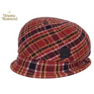 ヴィヴィアンウエストウッド(Vivienne Westwood)の【新品】Vivienne Westwood チェック柄おしゃれ帽子(キャスケット)