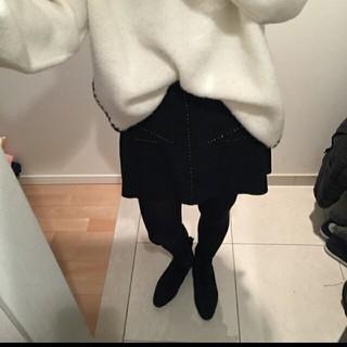 ザラ(ZARA)のZARA新品たぐつきフェイクスウェードスカート(ミニスカート)