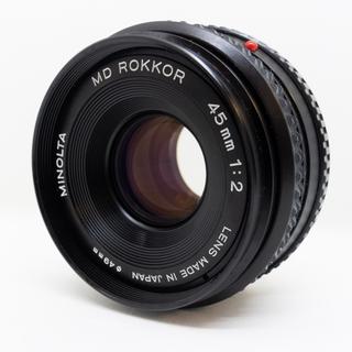 コニカミノルタ(KONICA MINOLTA)のMINOLTA MD ROKKOR 45mm f2(レンズ(単焦点))