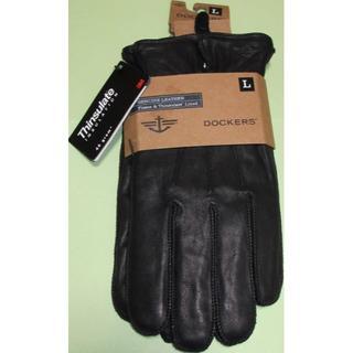 リーバイス(Levi's)の新品 Dockers 本革 手袋 黒 シンサレート フリース L Levi's(手袋)