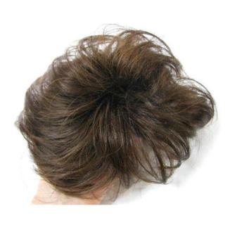 新品!頭頂部付け毛ヘア医療用にもライトブラウン★洗える耐熱男女兼用(前髪ウィッグ)
