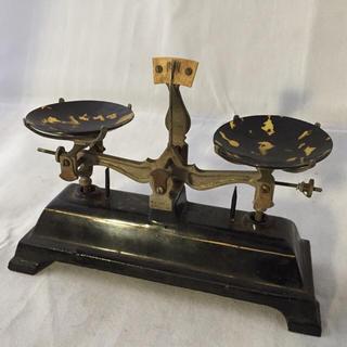 昭和初期頃 両皿天秤はかり 分銅セット付き(その他)