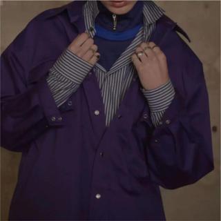 ジョンローレンスサリバン(JOHN LAWRENCE SULLIVAN)の【希少サイズ】LITTLEBIG over gabardine shirts 紫(シャツ)