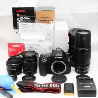 ペンタックス(PENTAX)のCanon EOS 80D☆ 超望遠300mm+単焦点+標準☆トリプルレンズ(デジタル一眼)