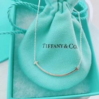 Tiffany & Co. - ティファニー スマイル ネックレス T Smile ミニ
