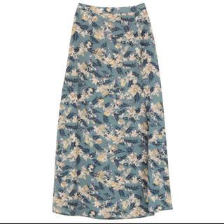 アグリサギモリ(AGURI SAGIMORI)の花柄 ロングスカート(ロングスカート)