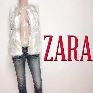 ZARA - 可愛すぎ♪ザラ ふわふわ フェイクファーベスト♡レッセパッセ ロイヤルパーティー