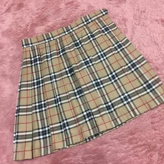 WEGO - バーバリー風 チェック プリーツスカート