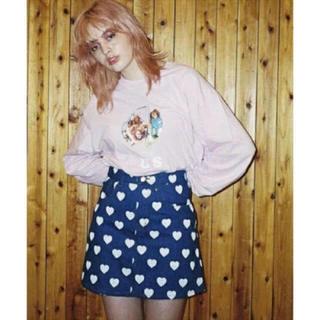 リトルサニーバイト(little sunny bite)のlittle  sunny bite heart denim skirt(ミニスカート)