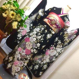 桂由美  正絹お振袖  袋帯※プレゼント  R1039(振袖)