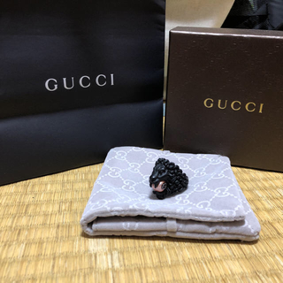 グッチ(Gucci)のペちん様専用GUCCI ライオンヘッドリング グラスパール付(リング(指輪))