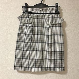 ミッシュマッシュ(MISCH MASCH)の今季 ミッシュマッシュ ぺプラムタイトスカート(ミニスカート)