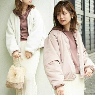 ナチュラルクチュール(natural couture)のリバーシブル ♡ボアブルゾン(ブルゾン)