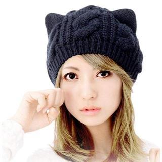大人気☆猫耳ニット帽(ニット帽/ビーニー)